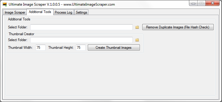 Ultimate Image Scraper Additional Tools